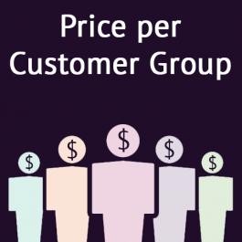 Magento 2 Price per Customer Group